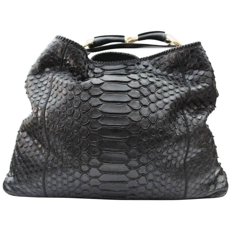 e6cf66f8b7a3 Gucci Horsebit Python Hobo Bag at 1stdibs