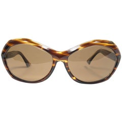 "New Vintage Rare Pierre Marly "" Nicky "" Small Avantgarde 1960 Sunglasses"