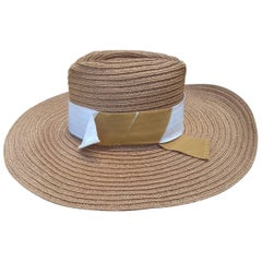 Hermès Sun Hat Summer Hat Panama Hemp Size 56