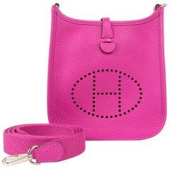 Hermes Evelyne III TPM Bag Magnolia Pink Crossbody Clemence Palladium