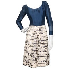 A 60s vintage Chanel Haute Couture Embellished Silk Dress
