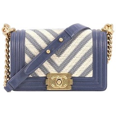 Chanel Boy Flap Bag Braided Chevron Calfskin Small