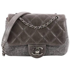 Chanel Paris-Salzburg Flap Bag Felt and Quilted Calfskin Mini