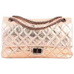 Chanel Reissue 2.55 Handbag Quilted Metallic Aged Calfskin 226