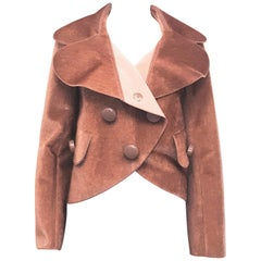 Louis Vuitton Dusty Rose Double Breasted Faux Fur Jacket