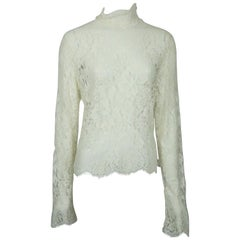 Burberry Ivory Lace Top - 8