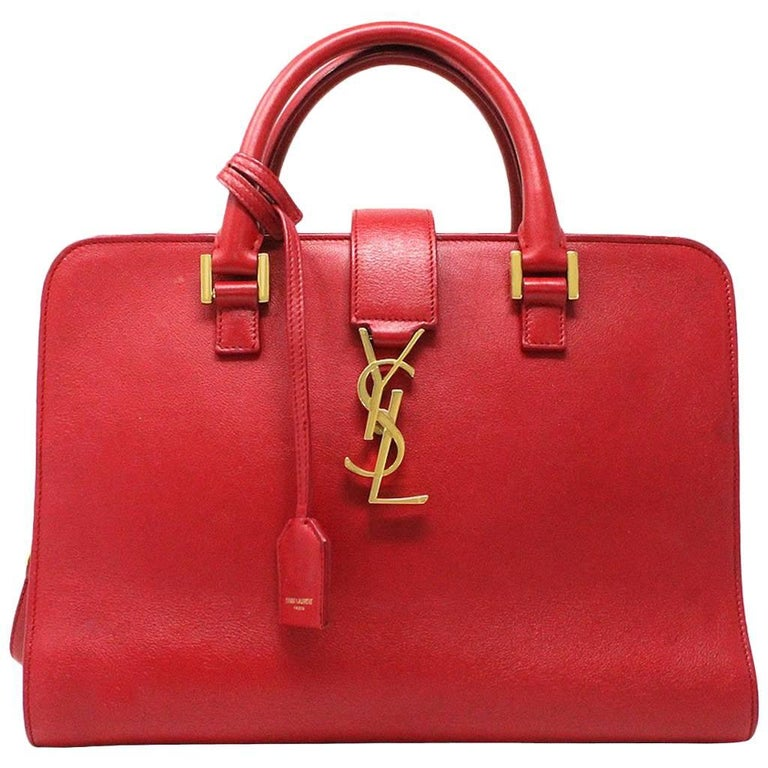 Yves Saint Laurent Ysl Red Leather Gold Hardware Crossbody