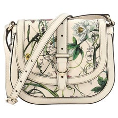 Gucci Nice Shoulder Bag Floral Printed Leather Small
