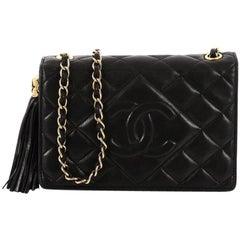 Chanel Vintage Diamond CC Flap Bag Quilted Lambskin Mini