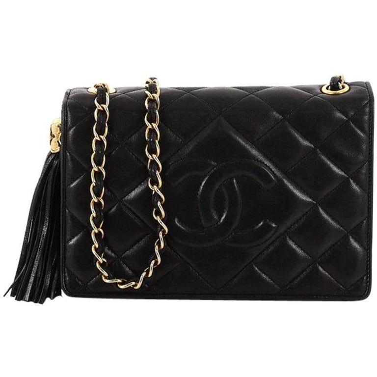 6d091268b88dd5 Chanel Vintage Diamond CC Flap Bag Quilted Lambskin Mini at 1stdibs