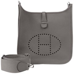 HERMES Bag Evelyne TPM Mini Etain Clemence Cuivre Strap Sold Out ... 7e7385de78577