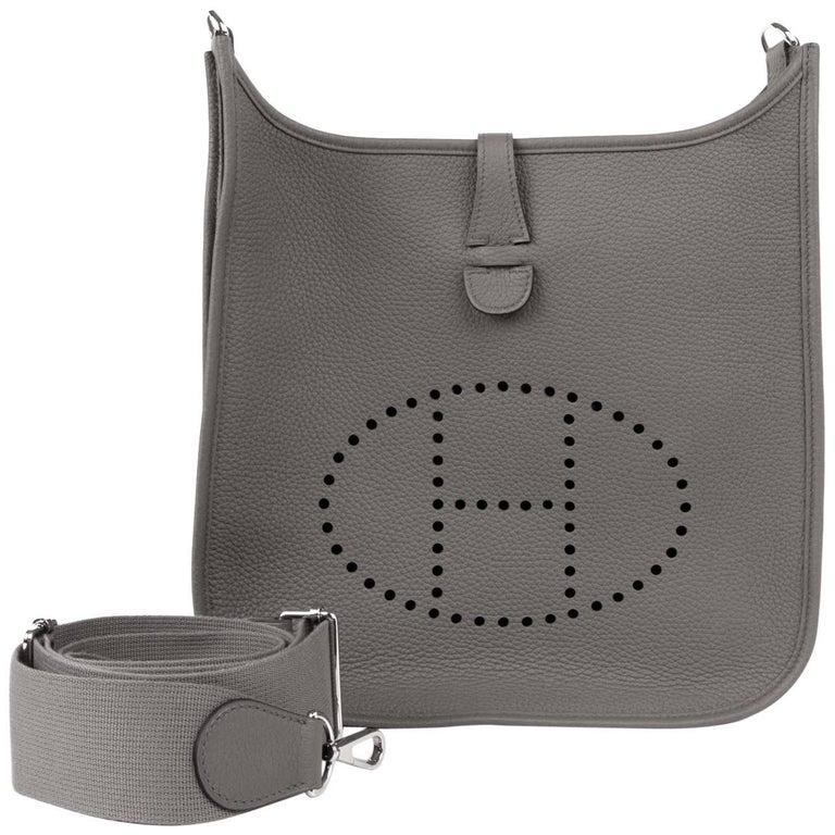 c9ca3b6274a4 Hermes Evelyne PM Bag Etain Cross Body Clemence Leather For Sale at ...