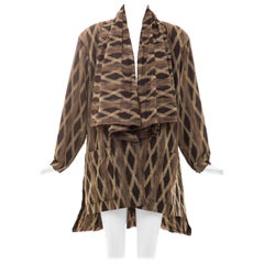 Issey Miyake Cotton Silk Ikat Printed Jacket Duster Cardigan, Fall 1986