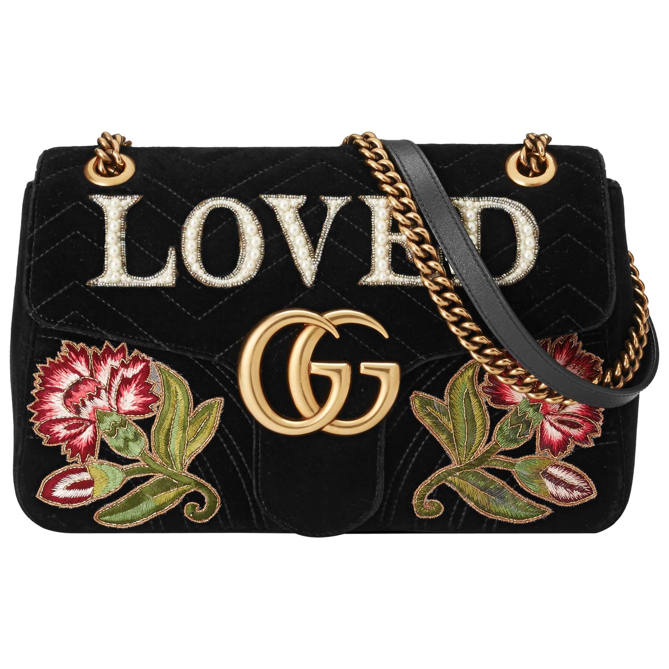 Pre-owned - Marmont velvet handbag Gucci ADC1xt