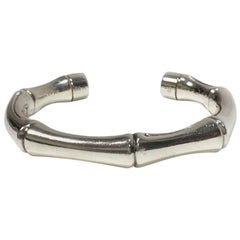 GUCCI Rigid Bamboo Bracelet in Sterling Silver