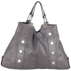Balenciaga Gray Leather Shopping Bag Shopper Tote