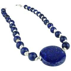 Gemjunky Lapis Lazuli and Silver Necklace
