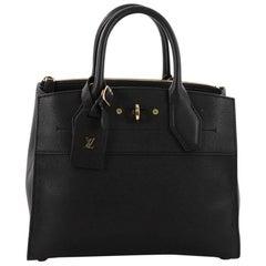 Louis Vuitton City Steamer Handbag Leather PM