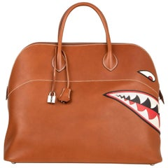 Hermes Barenia Leather Ltd Ed Runway Shark Bolide Monster Bag