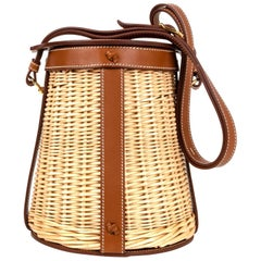 312e449a4c8 Hermes Osier Wicker Barenia Limited Edition Farming Picnic Bag