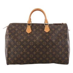 Louis Vuitton Speedy Handbag Monogram Canvas 40
