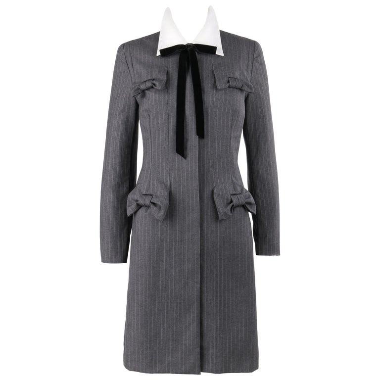 Givenchy by John Galliano charcoal-gray wool coat dress, Autumn/Winter 1996, offered by E-Collectique Luxury Resale
