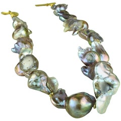 Baroque Silver Pearl Necklace