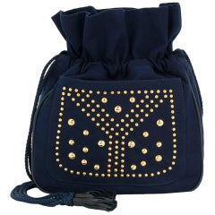Yves Saint Laurent Navy cotton Bag