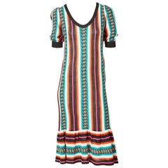 Yves Saint Laurent  Bold Stripe Knit Day Dress