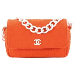 Chanel Sport Line Resin Camera Flap Bag Terry Cloth Medium