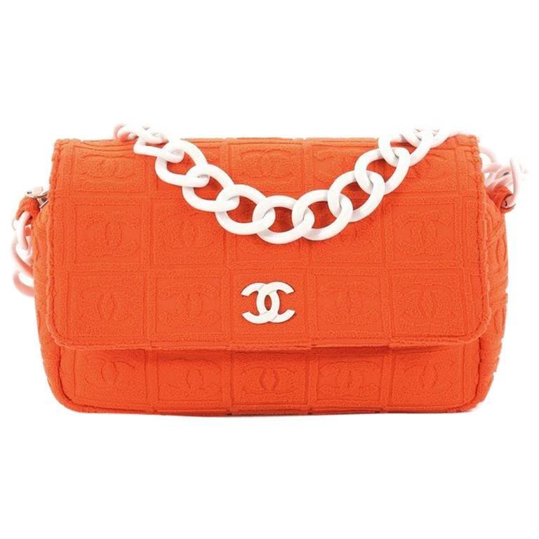 Chanel Sport Line Resin Camera Flap Bag Terry Cloth Medium