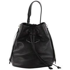 Balenciaga Papier Plate Bucket Bag Leather XS