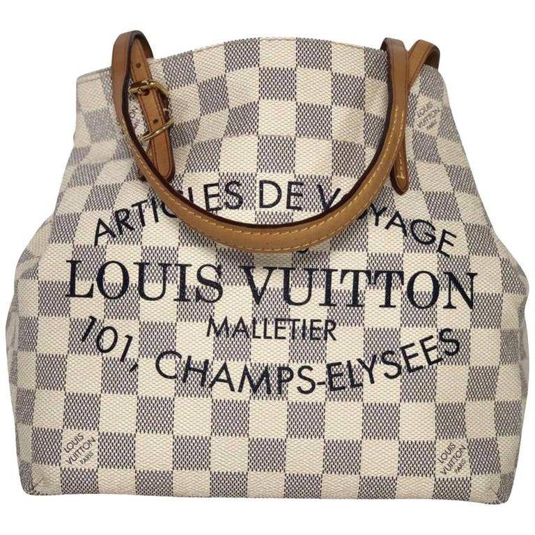 Louis Vuitton Damier Azur Cabas Articles De Voyage PM Tote Handbag