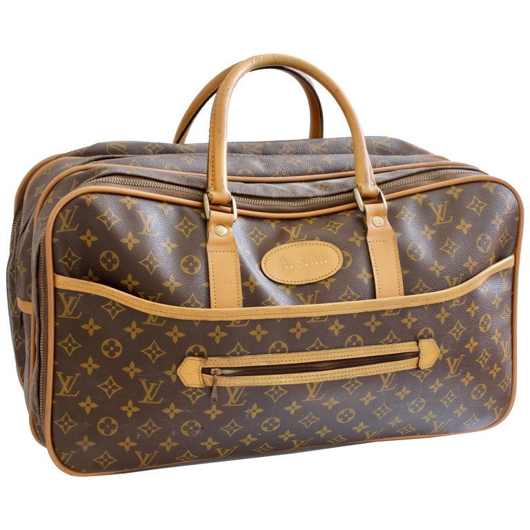 798b81342b9b Louis Vuitton Carry All Soft Side Suitcase Weekender Luggage French Company  70s For Sale