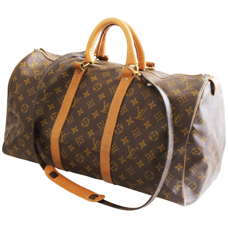 Louis Vuitton Keepall Duffle Bag 45cm Travel French Company Shoulder Strap For