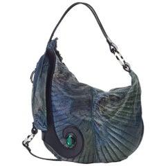 Fendi Blue x Multi Leather Handbag