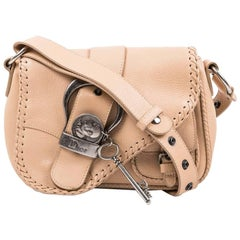 DIOR 'Saddle' Bag in Beige Leather
