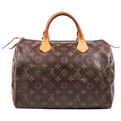 LOUIS VUITTON Speedy 30 Bag in Brown Monogram Canvas