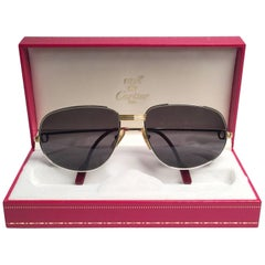 Cartier Vintage Romance Vendome 58mm Platinum France Sunglasses