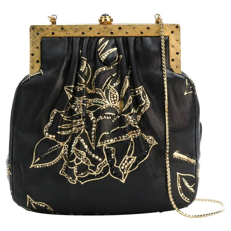 Judith Leiber Vintage Leather Evening Bag For Sale
