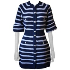 Chanel Stripe Cashmere Knitted Dress