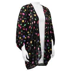 1990s Oscar de la Renta Jewel Print Kimono
