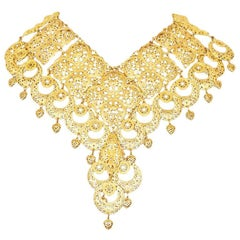 Carlo Zini Golden Filigree Collier