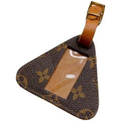 Louis Vuitton Monogram Luggage Tag I.D. Holder Travel Accessory French Company