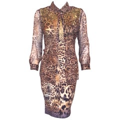 Marc Cain Multicolor Leopard Print Two Piece Dress Ensemble