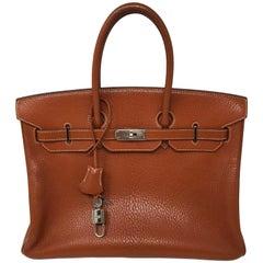 Hermes Potiron Orange Birkin 35 Bag