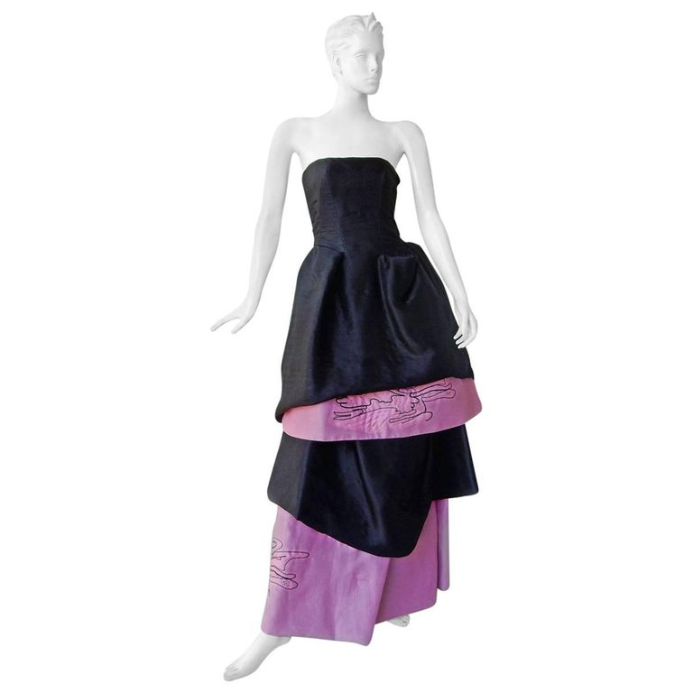 Christian Lacroix Runway 2-in-1 Detachable Pouf Petal Dress Gown  For Sale