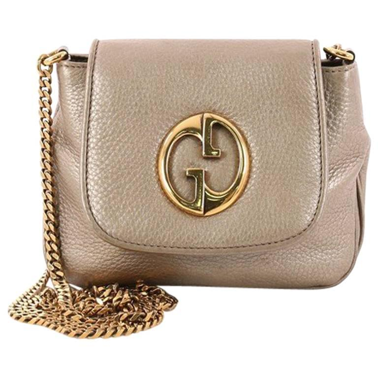 159154fe61a Gucci 1973 Crossbody Bag Leather Small at 1stdibs