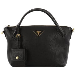 Prada Convertible Top Handle Satchel Vitello Daino Small
