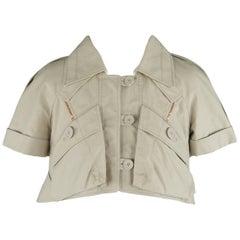 Louis Vuitton Beige Cropped A Line Safari Jacket